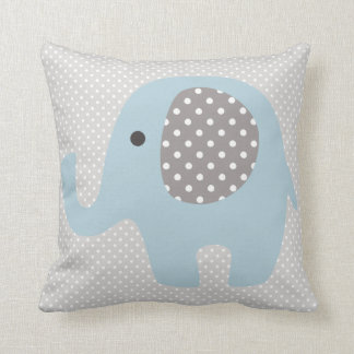 Beautiful Baby Blue Elephant Cushion