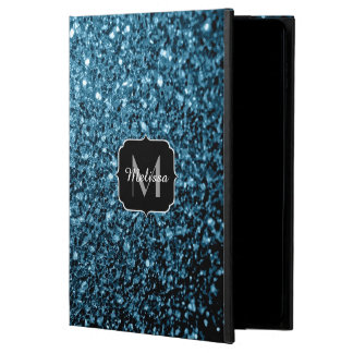 Beautiful Baby blue glitter sparkles Monogram Powis iPad Air 2 Case