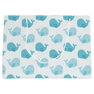 Beautiful Baby Blue Whales Large Gift Bag