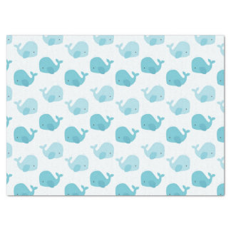 Beautiful Baby Blue Whales Tissue Paper