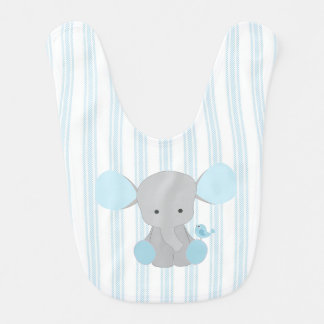 Beautiful Baby Boy Blue Elephant Bib