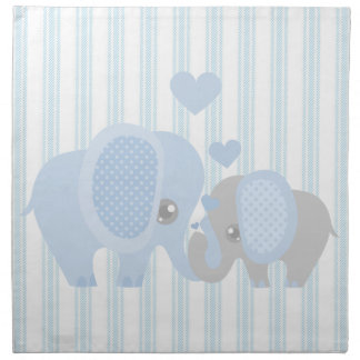 Beautiful Baby Boy Blue Elephant Napkin