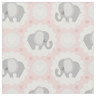 Beautiful Baby Elephant in Pink Fabric