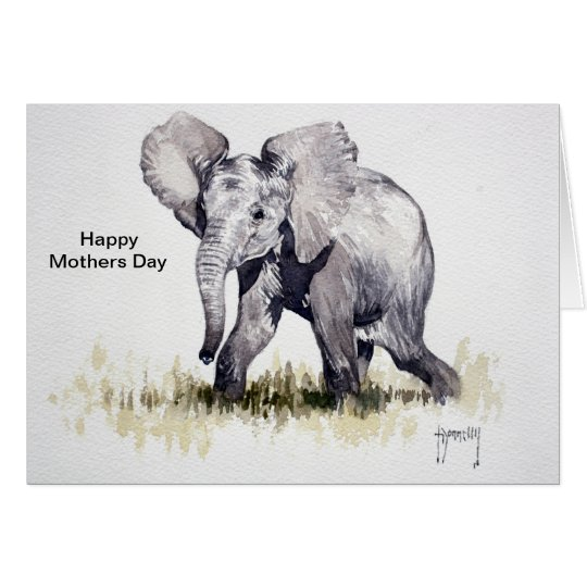 Beautiful Baby Elephant Mothers Day Card