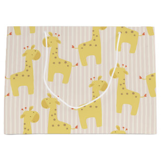 Beautiful Baby Giraffe Large Gift Bag