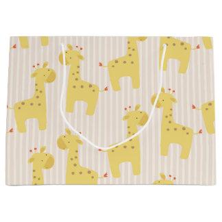 Beautiful Baby Giraffe Large Gift Bag