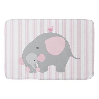 Beautiful Baby Girl Pink Elephant Bath Mat