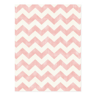 Beautiful Baby Light Pink Chevron Zig Zag Pattern Postcard