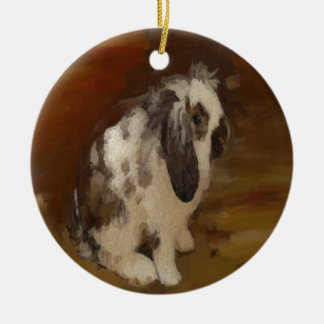 Beautiful Baby Lop Eared Rabbit/Kit Christmas Ornament