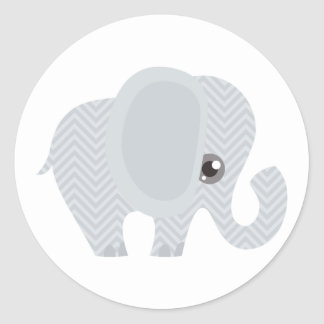 Beautiful Baby Neutral Elephant Classic Round Sticker