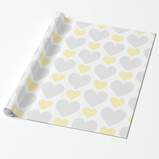 Beautiful Baby Neutral Heart Pattern Wrapping Paper