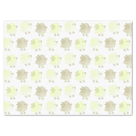 Beautiful Baby Neutral Yellow Birdie Chicks Tissue Paper