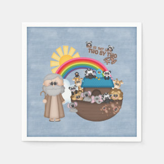 Beautiful Baby Noah's Ark Disposable Serviettes