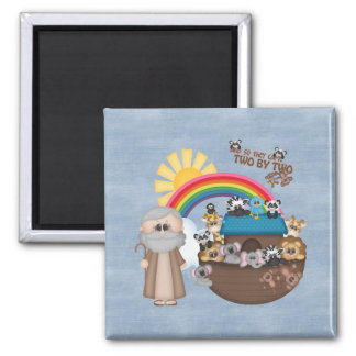 Beautiful Baby Noah's Ark Square Magnet