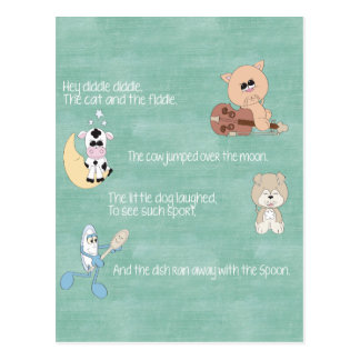 Beautiful Baby Nursery Rhymes Postcard