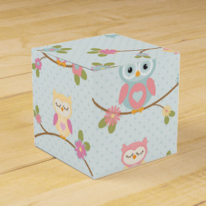 Beautiful Baby Owl Pattern Favour Box