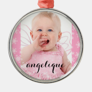 Beautiful Baby Photo Christmas Snowflakes Christmas Ornament