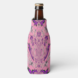 Beautiful baby pink  purple shade motif monogram bottle cooler