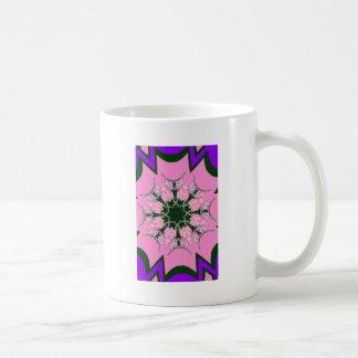 Beautiful baby pink purple shade motif monogram de basic white mug