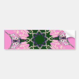 Beautiful baby pink purple shade motif monogram de bumper sticker