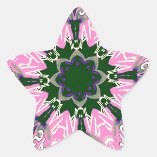 Beautiful baby pink purple shade motif monogram de star sticker