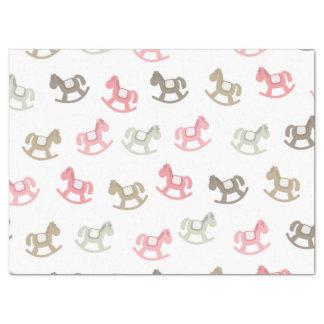 "Beautiful Baby Rocking Horses 17"" X 23"" Tissue Paper"