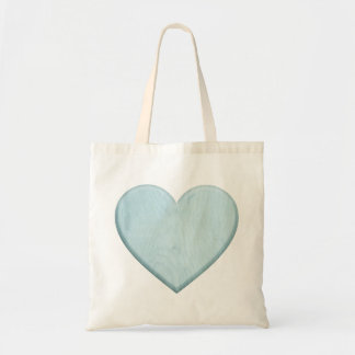 Beautiful Baby Shower Blue Heart Gift Budget Tote Bag