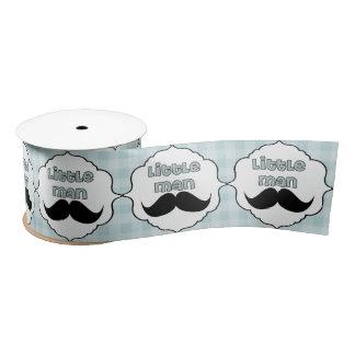 Beautiful Baby Shower Little Man Mustache Satin Ribbon