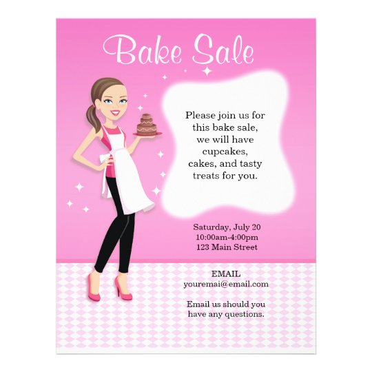 Beautiful Bake Sale Flyer personalised