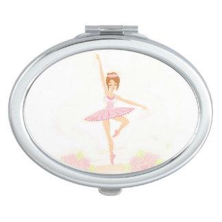 Beautiful ballerina  compact mirror
