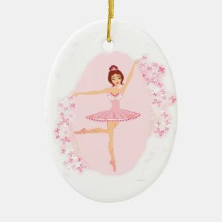 Beautiful ballerina  Decoration Ceramic Oval Decoration