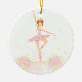 Beautiful ballerina  Decoration Round Ceramic Decoration