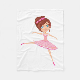 Beautiful ballerina Fleece Blanket