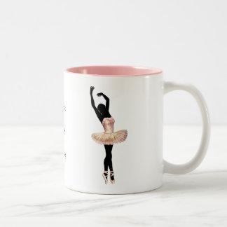 Beautiful Ballerina in pink Coffee Mugs