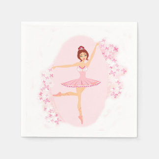 Beautiful ballerina  Napkin Disposable Napkin