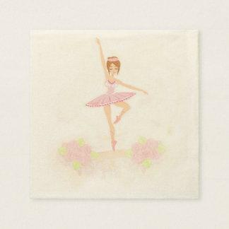 Beautiful ballerina  Napkin Paper Napkin