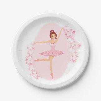Beautiful ballerina  Paper Plate 7 Inch Paper Plate
