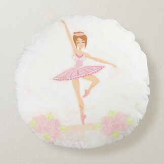 Beautiful ballerina  Round Cushions
