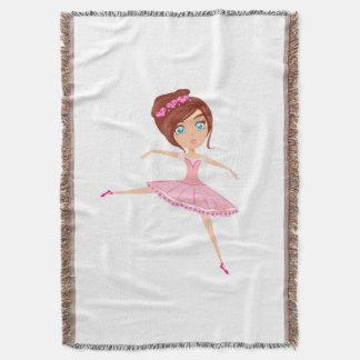 Beautiful ballerina Throw Blanket