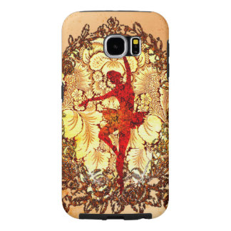 Beautiful ballerina with flowers samsung galaxy s6 cases
