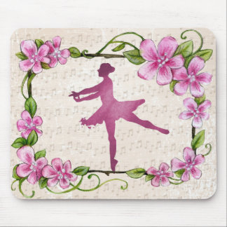 Beautiful Ballet Ballerina Pink Mouse Pad