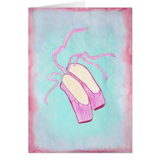 Beautiful Ballet Shoes Art Card