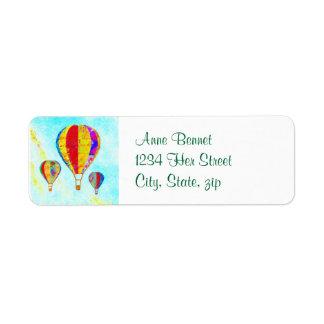 Beautiful Balloons address label