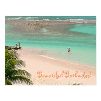 "BEAUTIFUL BARBADOS""/GORGEOUS BEACH & AQUA WATER POSTCARD"
