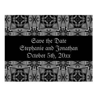 Beautiful baroque Save the Date Post Card
