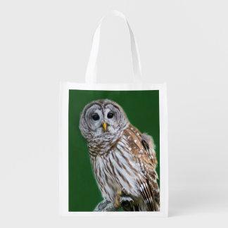 Beautiful Barred Owl - Birder's Foldable Bag