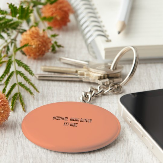 Beautiful basic button key ring