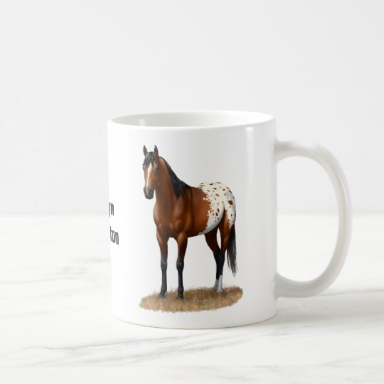 Beautiful Bay Appaloosa Horse Coffee Mug