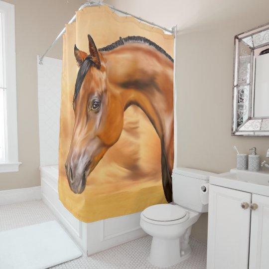 Beautiful Bay Arabian Horse Shower Curtain