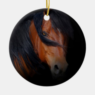 Beautiful Bay Horse Ornament